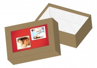Pudełko kartonowe, Zakochani, 11x15 cm