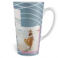 Kubek latte, Kubek ręcznie malowany