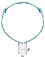 Bransoletka sznurkowa Puzzel sznurek posrebrzany , niebieski