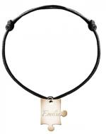 Bransoletka sznurkowa Puzzel sznurek pozłacany, czarny