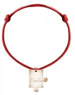 Bransoletka sznurkowa Puzzel sznurek pozłacany, czerwony