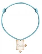 Bransoletka sznurkowa Puzzel sznurek pozłacany, niebieski