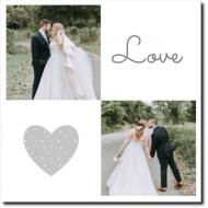 Obraz, Love wedding, 30x30 cm