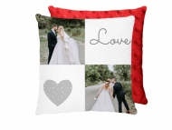 Poduszka minky, bawełna/minky, Love wedding, 25x25 cm
