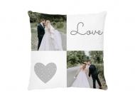 Poduszka, bawełna, Love wedding, 25x25 cm