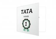 Fotokartki Tata numer 1 , 14x14 cm