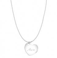 Naszyjnik z zawieszką Naszyjnik serce, srebrny
