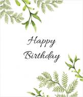 Fotokartki Happy Birthday , 15X20 cm
