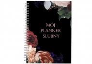 Notes planer Bordowy planer ślubny, 15x21 cm