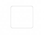 Brelok Pusty szablon, 6x6 cm