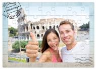 Puzzle magnetyczne, Pocztówka z podróży, 4 elementów
