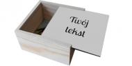 Pudełko, Twój tekst, 12x12 cm