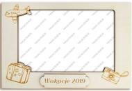 Ramka drewniana na zdjęcie Wakacje 2, 16,5x11 cm