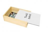 Pudełko, Twój tekst, 12x17 cm
