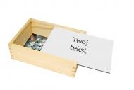 Pudełko, Twój tekst, 17x12 cm