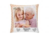 Poduszka, satyna, Kochanej Babci, 25x25 cm