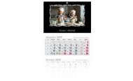 Kalendarz trójdzielny, Barwy codzienności, 30x85