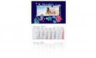 Kalendarz trójdzielny, Morska opowieść, 30x85
