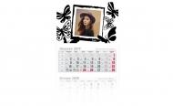 Kalendarz trójdzielny, Motyle, 30x85