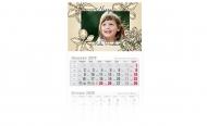 Kalendarz trójdzielny, Perełka, 30x85