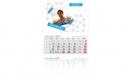 Kalendarz trójdzielny, Zaplanuj sobie rok, 30x85
