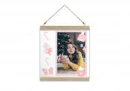 Obraz na sznurku, Pastelowe Święta, 30x30 cm
