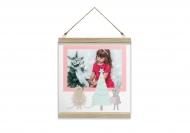 Obraz na sznurku, Zimowy las, 30x30 cm