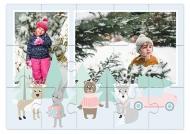 Puzzle, Zimowy las, 9 elementów
