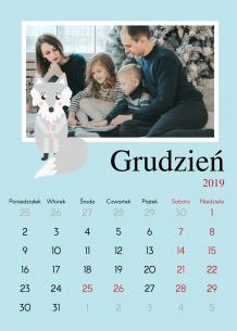 Kalendarz, Zimowy las, 20x30 cm