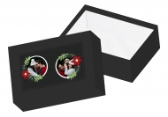 Pudełko kartonowe, Eleganckie Święta, 16x11 cm