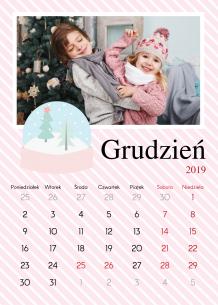 Kalendarz, Pastelowe Święta, 30x40 cm