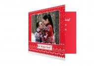 Fotokartki Wesołych Świąt Bożego Narodzenia, 14x14 cm
