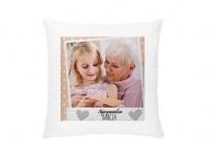 Poduszka, aksamit, Kochanej Babci, 38x38 cm