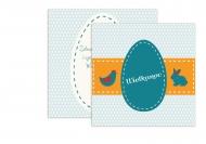 Fotokartki Wielkanocne życzenia, 14x14 cm