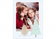 Fotokartki Pocztówka Pastelowe Święta, 15X20 cm
