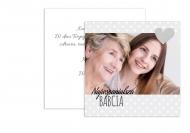 Fotokartki Dla Kochanej Babci, 14x14 cm