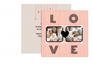 Fotokartki Love, 14x14 cm