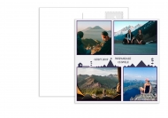 Fotokartki Pocztówka - Góry, 14x14 cm