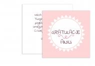Fotokartki Gratulacje dziewczynka, 14x14 cm