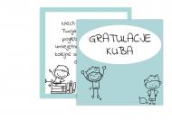 Fotokartki Gratulacje chłopiec, 14x14 cm