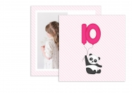 Fotokartki Panda, 14x14 cm
