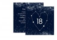 Fotokartki Kosmiczna osiemnastka, 14x14 cm