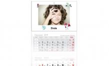 Kalendarz trójdzielny, Minimalistyczny, 30x85