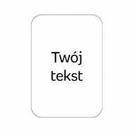 Brelok Twój tekst, 5x7 cm