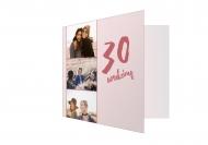 Fotokartki Na 30ste urodziny, 14x14 cm