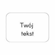 Brelok Twój tekst, 7x5 cm