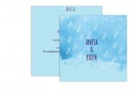 Zaproszenia Błękitne, 14x14 cm