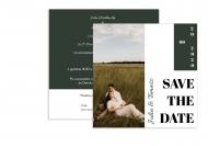 Zaproszenia Minimalistyczne Save The Date, 14x14 cm