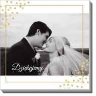 Obraz, Podziękowania ślubne, 30x30 cm