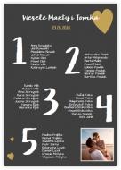Plakat, Lista gości weselnych, 50x70 cm